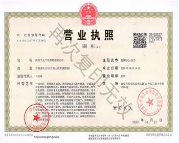 陕西必威登录平台户外照明有限公司 营业执照
