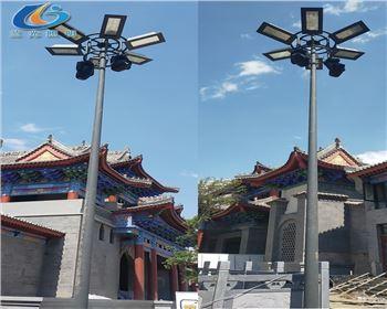 兰州老街古建亮化项目高杆灯安装项目